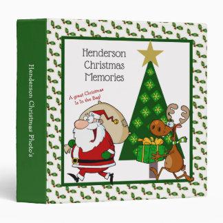 Fun Santa & Reindeer Christmas Binder Photo Album