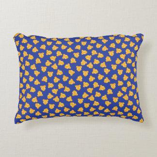 Fun Scattered Popcorn Pattern Decorative Pillow