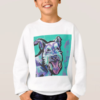 Fun schnauzer bright colorful Pop Art Sweatshirt