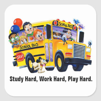 Fun School Bus Driver Party T Shirts Personalized Square Sticker