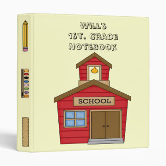 Fun! School House 1st. Notebook Avery Binder