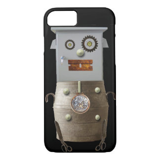Fun Sci Fi Metal Robot Iphone Case