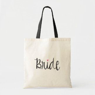 Fun Script Bride Tote Bag