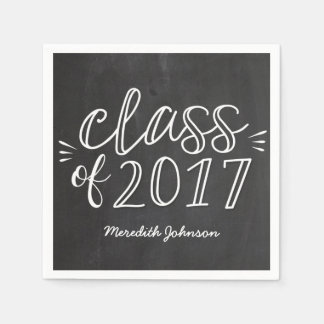 Fun Script Chalkboard Graduation Napkins Disposable Napkin