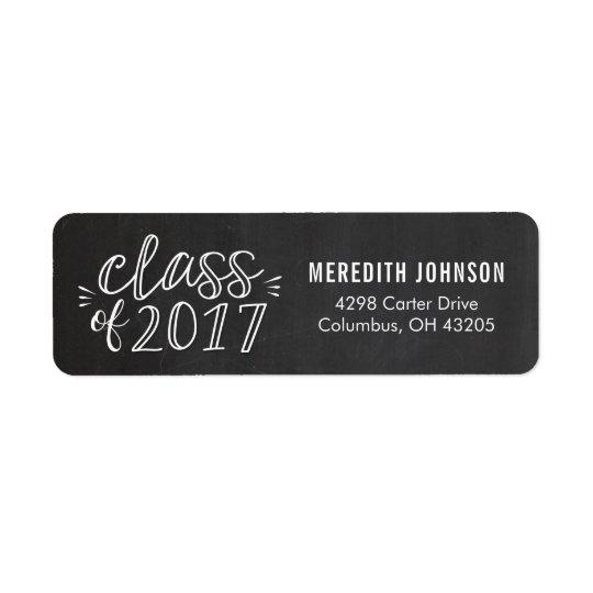 Fun Script Graduation Return Address Label
