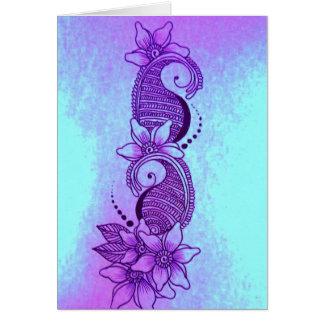 fun sea henna mehndi cards