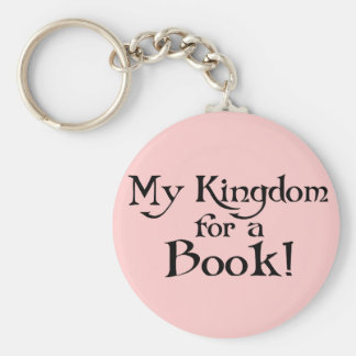 Fun Shakespeare My Kingdom for a Book T-shirt Keychain