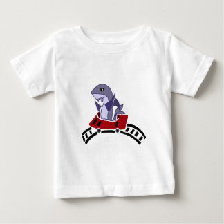Fun Shark Riding on Roller Coaster Baby T-Shirt