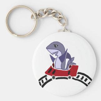 Fun Shark Riding on Roller Coaster Keychain