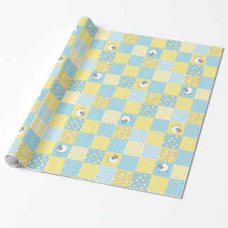 Fun Sheep: Country-Style, Faux Patchwork Giftwrap Wrapping Paper