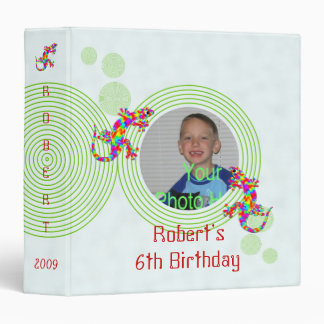 Fun Sidney Salamander Birthday 1.5 inch 3 Ring Binders
