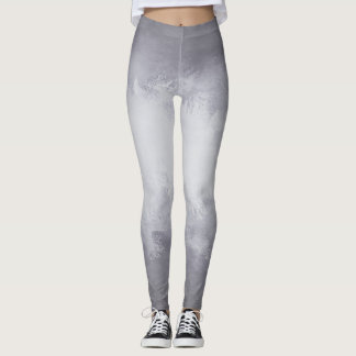 Fun Silver Watercolor with Ombre Gradient Leggings