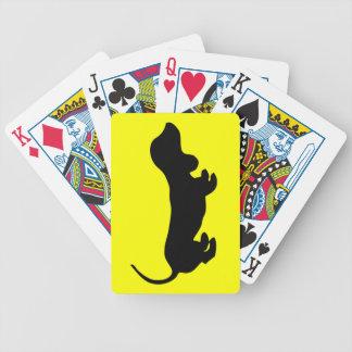 Fun Simple Dachshund Design Playing Cards
