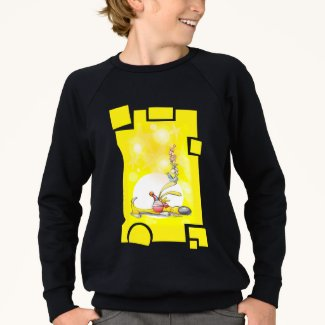 Fun Sleeping Puppy long sleeved top. Sweatshirt