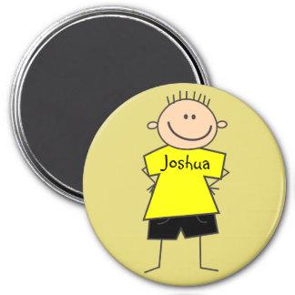 Fun Smiley Boy Stick Figure Personalized Magnet