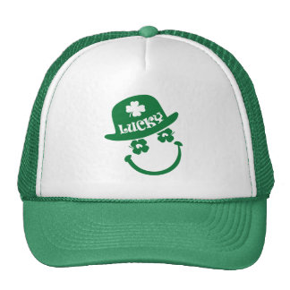Fun Smiley Face Design St. Patrick's Day Hats
