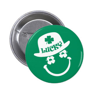 Fun Smiley Face St. Patrick's Day Buttons