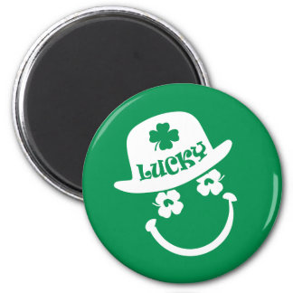 Fun Smiley Face St. Patrick's Day Gift Magnets