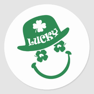 Fun Smiley Face St. Patrick's Day Stickers