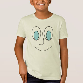 Fun Smiley Man Face Design Kids T-Shirt