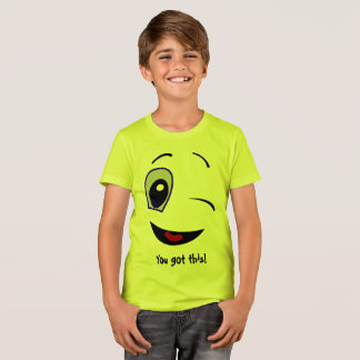 Fun Smiling Face Inspirational T-Shirt for Kids