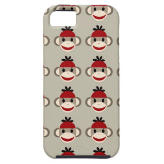 Fun Smiling Red Sock Monkey Happy Patterns iPhone 5 Cover