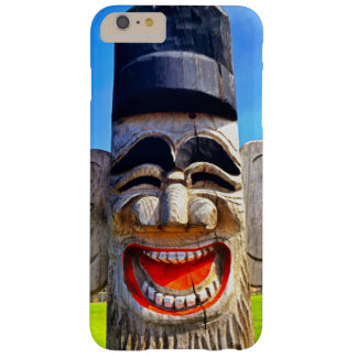 Fun smiling silly laughing teeth wooden face photo barely there iPhone 6 plus case