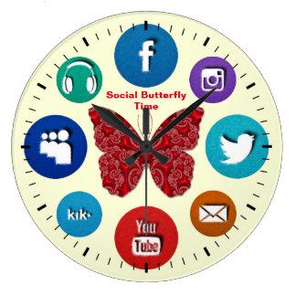 Fun Social Butterfly Time Clock