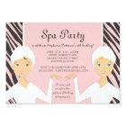 Fun Spa Girl Birthday Spa Party Invitation | Zebra