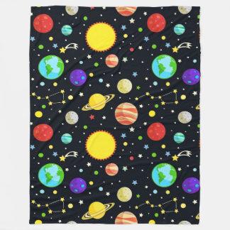 Pattern fleece blankets pattern blanket designs for Space design blanket