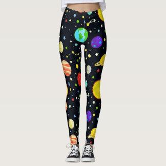 Fun Space Pattern Leggings