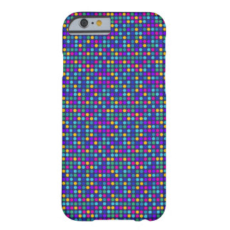 Fun sparkling blue small colorful dots barely there iPhone 6 case