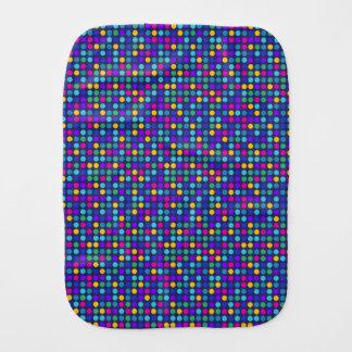 Fun sparkling blue small colorful dots burp cloth