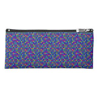 Fun sparkling blue small colorful dots pencil case