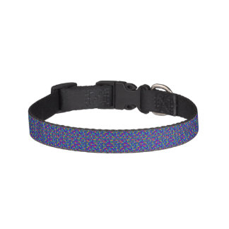 Fun sparkling blue small colorful dots pet collar