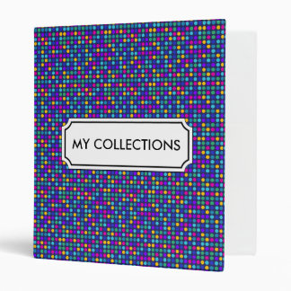 Fun sparkling blue small colorful dots vinyl binders