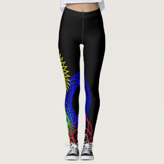Fun Spiral Graph Leggings