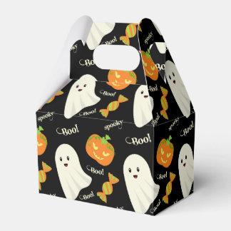 Fun Spooky Halloween Ghost Pumpkin Candy Pattern Favor Box
