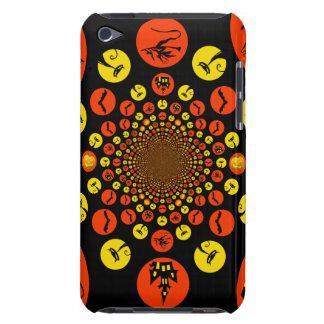 Fun Spooky Halloween Kaleidoscope Pattern iPod Touch Case