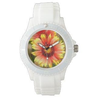 Fun Sporty White Florida Wildflower Watch