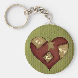 Fun Star Heart Keychain
