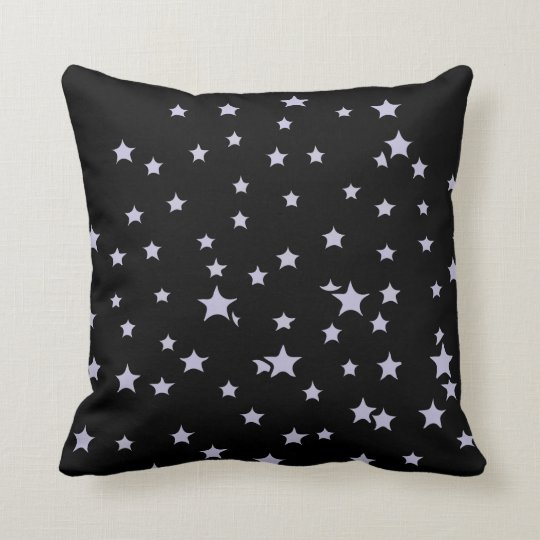 Fun Starry Design Throw Pillow