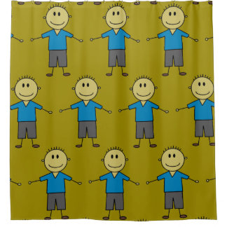 Fun Stick Boy Figures Pattern
