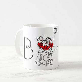 Fun Stick Figures Personalised Netball Coffee Mug