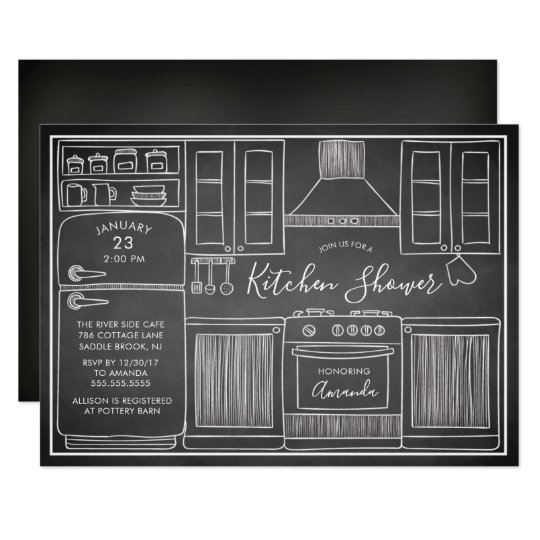 Fun Stock The Kitchen Shower Invitations