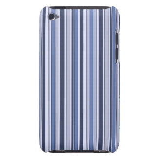 Fun Stripes Pattern in Shades of Blue iPod Touch Case