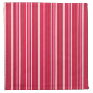 Fun Stripes Pattern in Shades of Pink Napkins