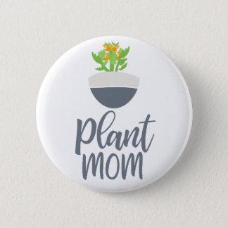 Fun Succulent Kalanchoe Plant Mom Design 2 Inch Round Button