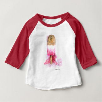 Fun, Summer Chocolate and Strawberry Popsicle Baby T-Shirt