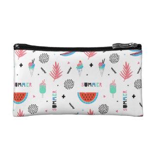 Fun Summer Elements Pattern Cosmetics Bags